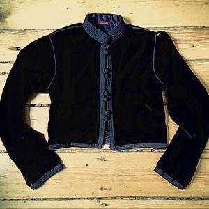 Anthro velvet cropped Asian Beldi Bolero jacket S